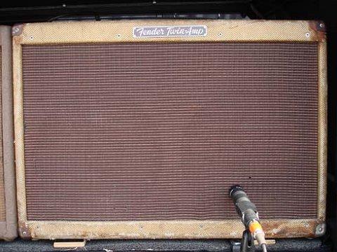 Keef's well-worn Fender Tweed Twin amp