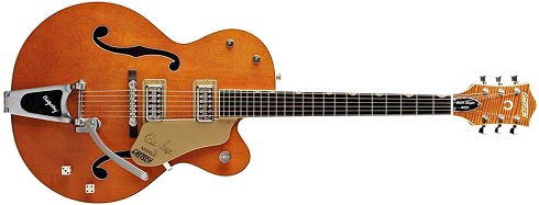 Gretsch guitar in amber orange