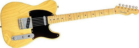 good old classic Telecaster in butterscotch blonde
