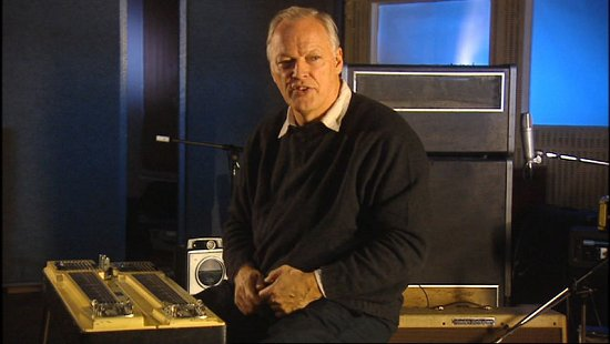 David Gilmour in the studio